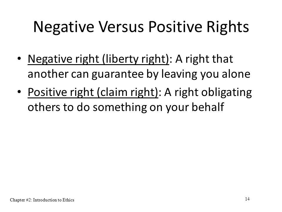 Negative Versus Positive Rights
