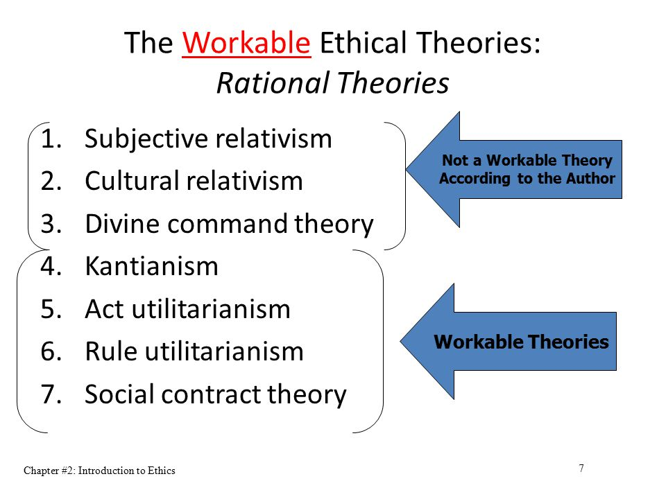 The Workable Ethical Theories: Rational Theories