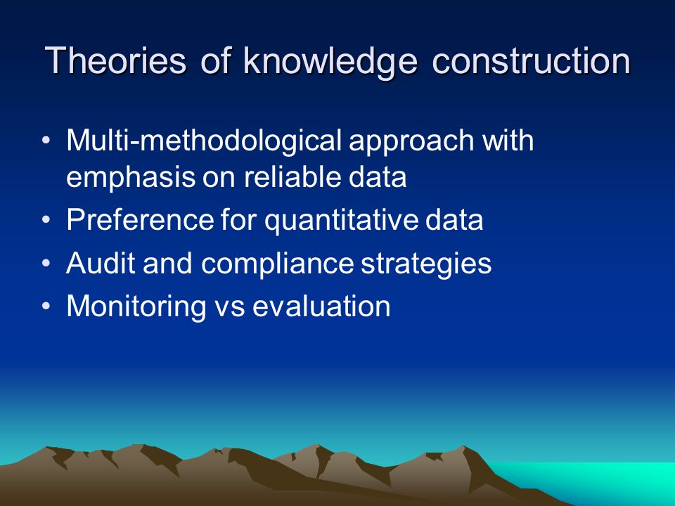 Theories of knowledge construction