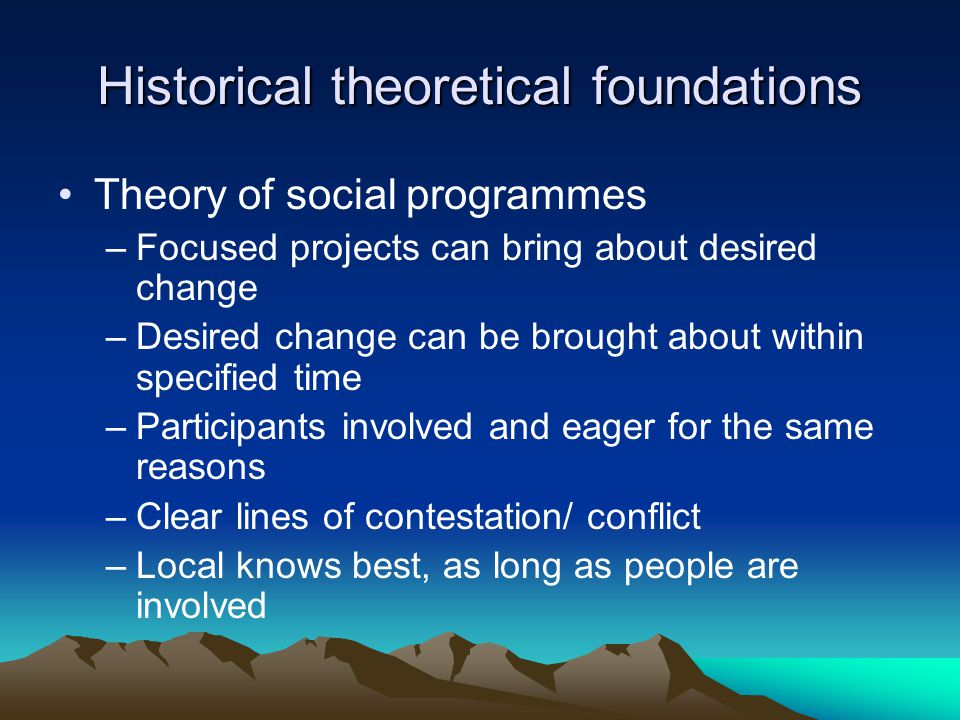 Historical theoretical foundations