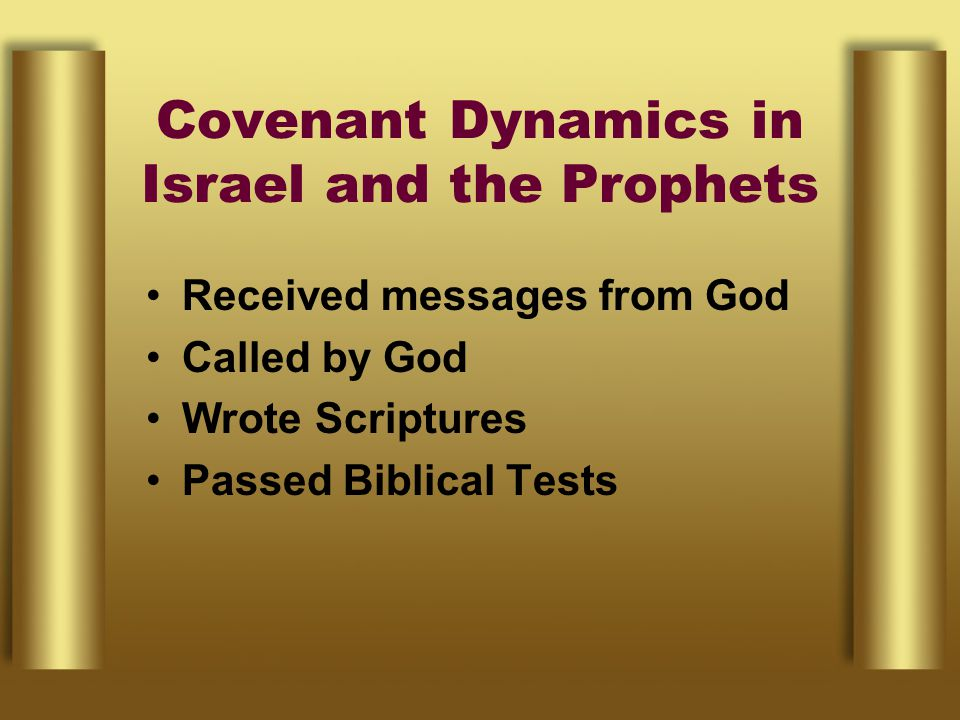 Covenant Dynamics in Israel and the Prophets