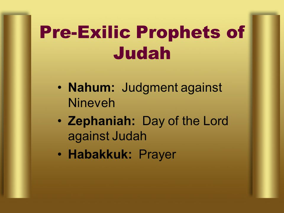 Pre-Exilic Prophets of Judah