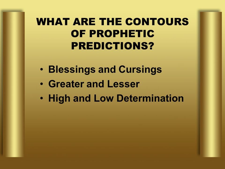 WHAT ARE THE CONTOURS OF PROPHETIC PREDICTIONS