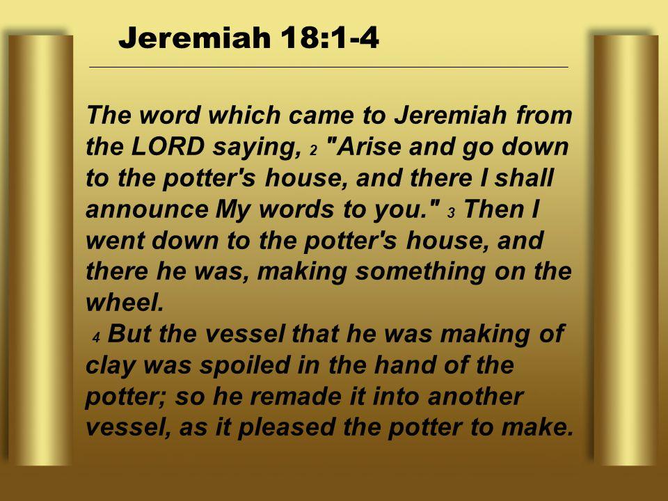 Jeremiah 18:1-4