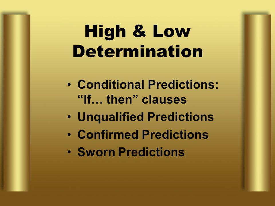 High & Low Determination