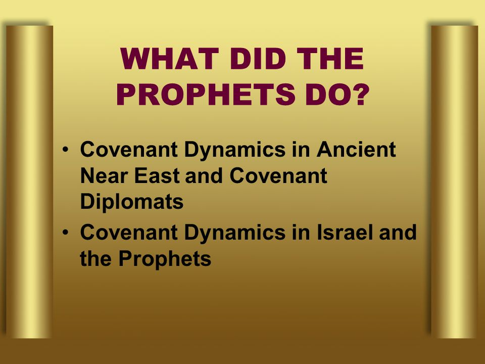 WHAT DID THE PROPHETS DO