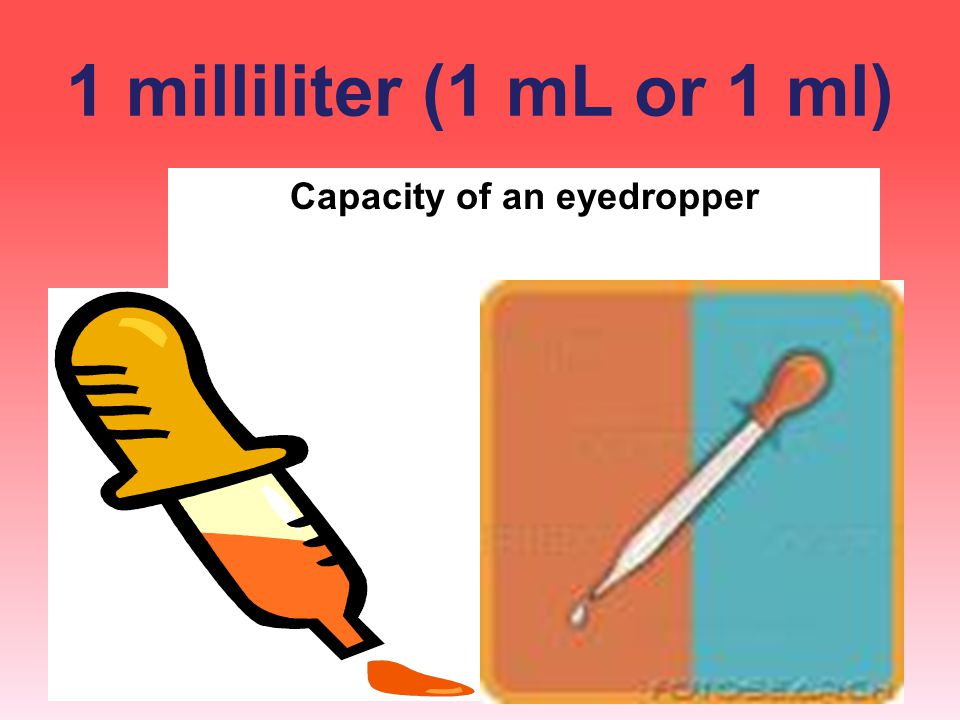 Capacity of an eyedropper