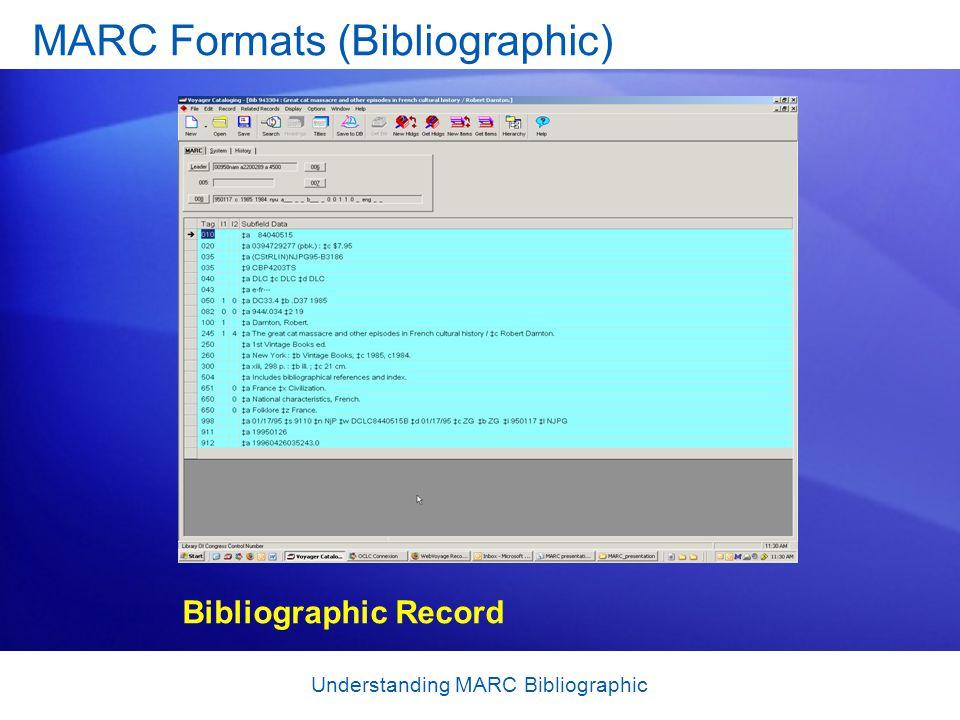 MARC Formats (Bibliographic)