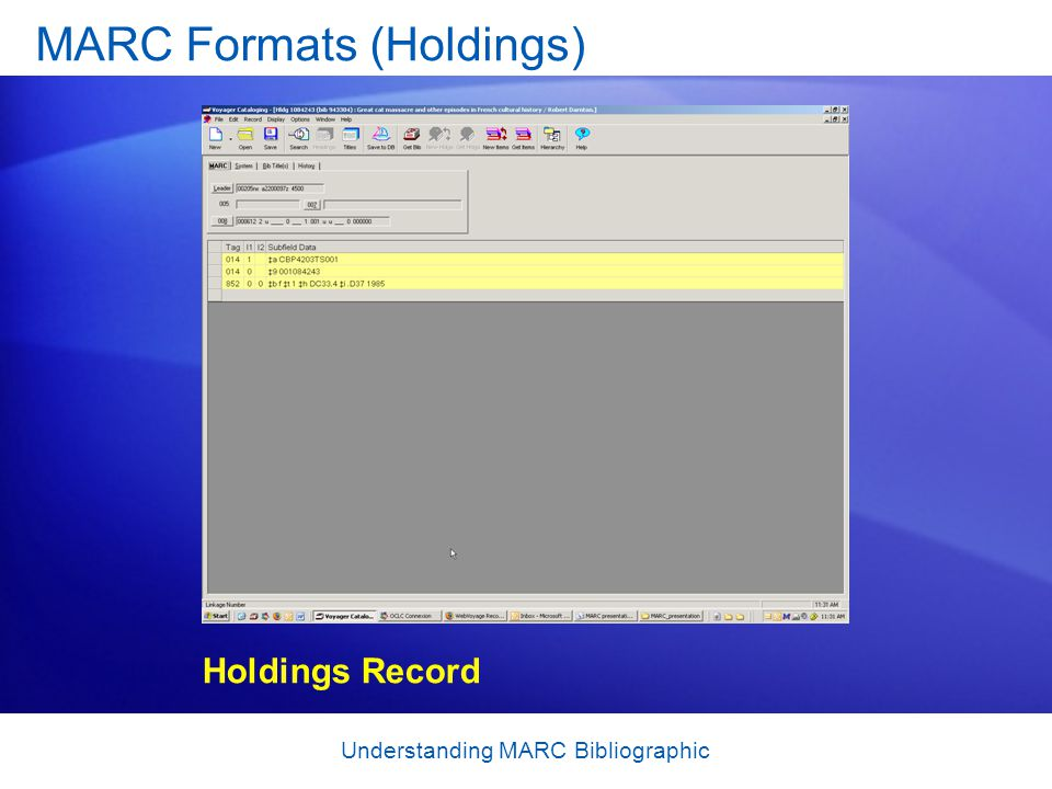 MARC Formats (Holdings)