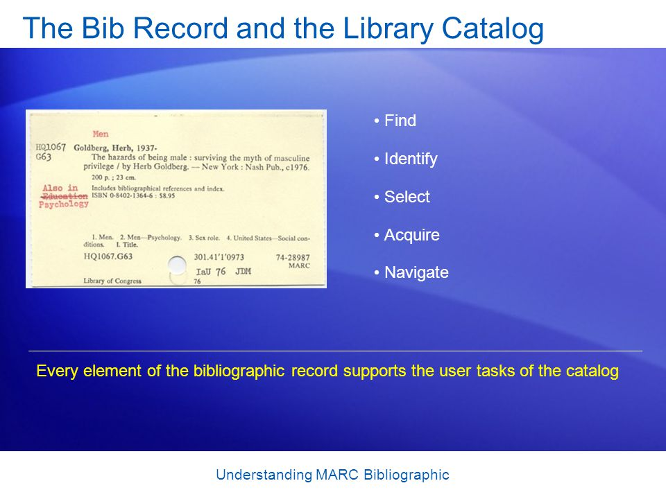 The Bib Record and the Library Catalog