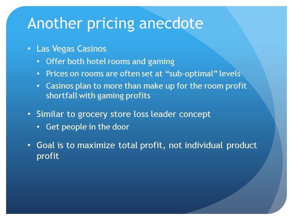 Another pricing anecdote