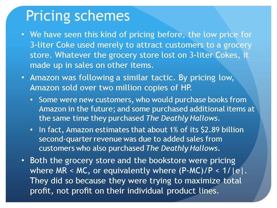 Pricing schemes