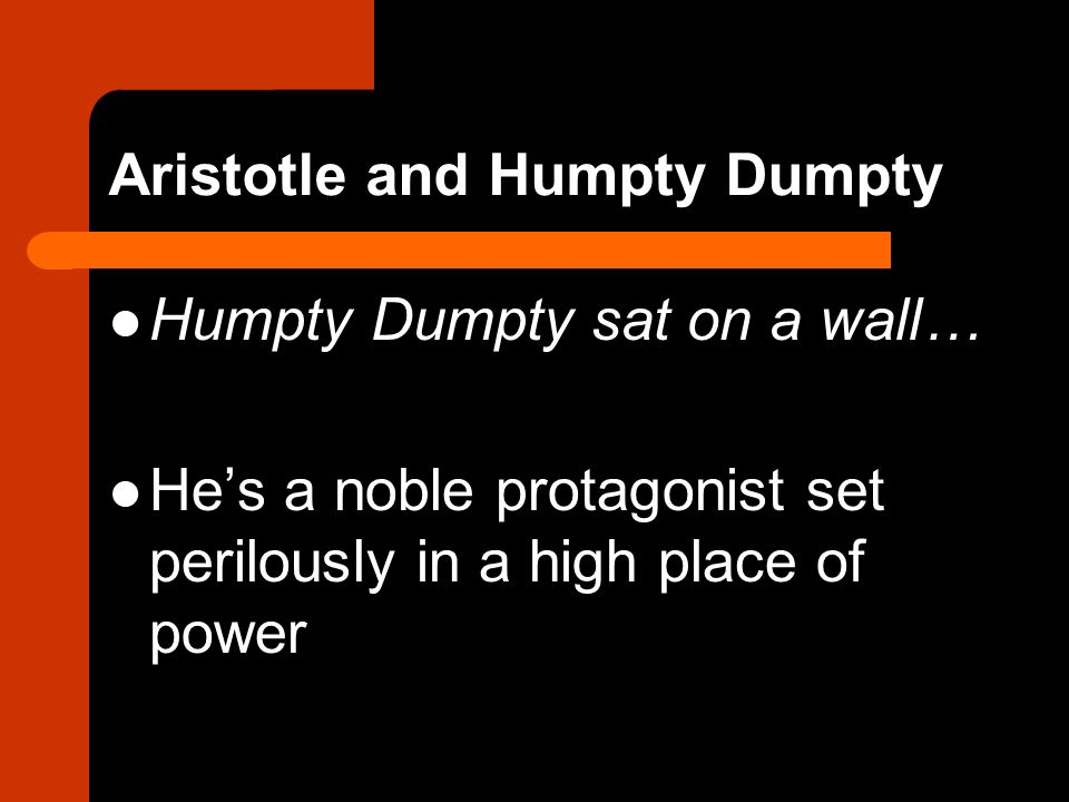 Aristotle and Humpty Dumpty