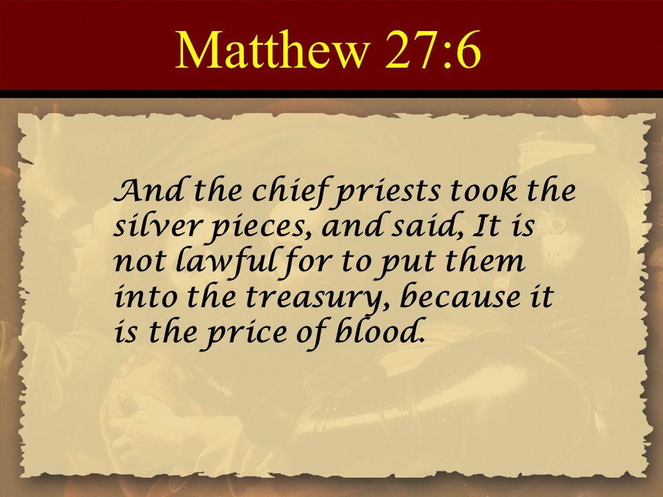 Matthew 27:6