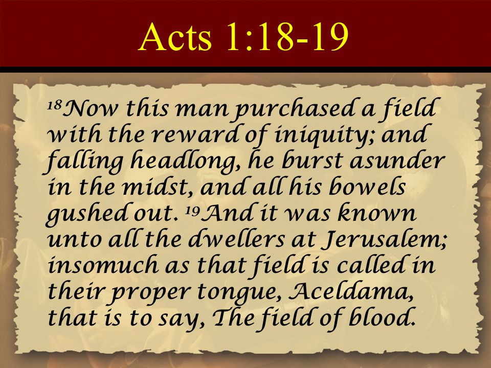 Acts 1:18-19