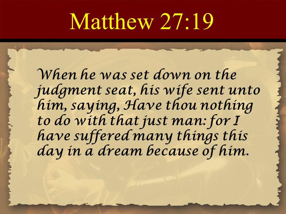 Matthew 27:19