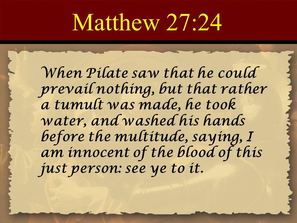 Matthew 27:24