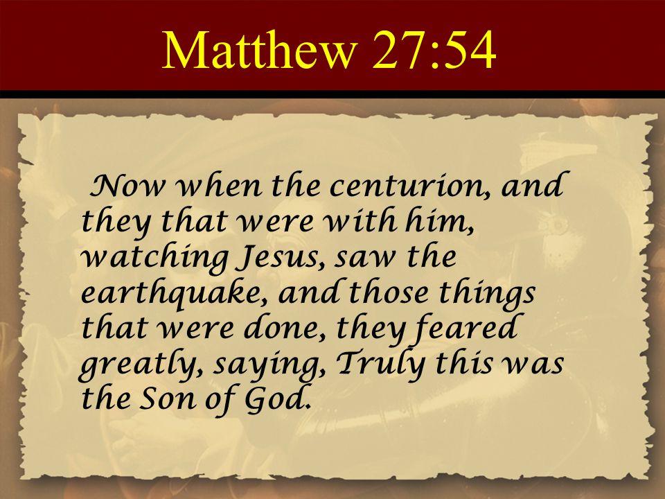 Matthew 27:54