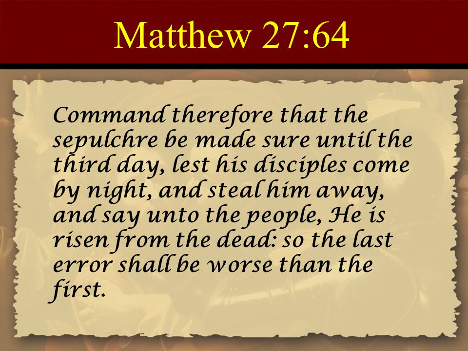 Matthew 27:64