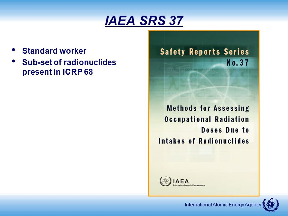 IAEA SRS 37 Standard worker