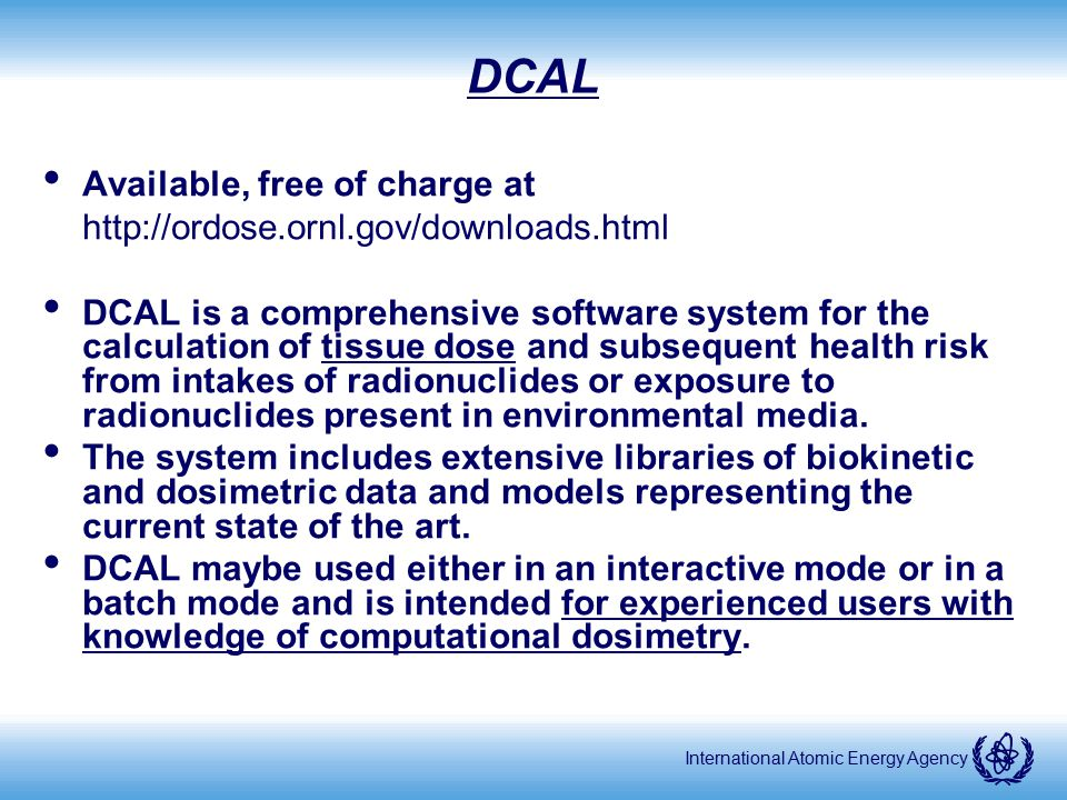 DCAL Available, free of charge at