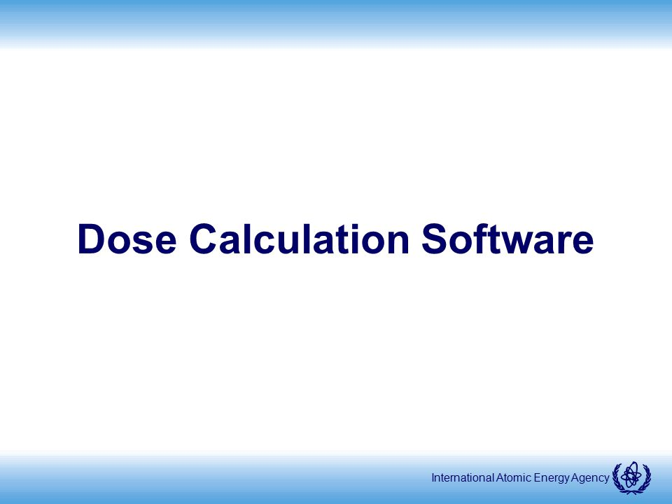 Dose Calculation Software