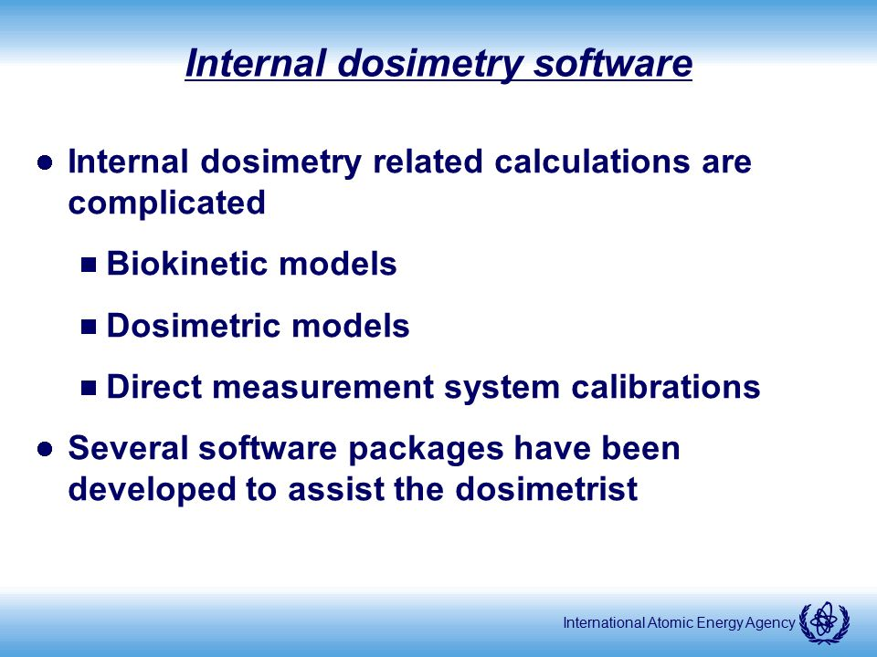 Internal dosimetry software