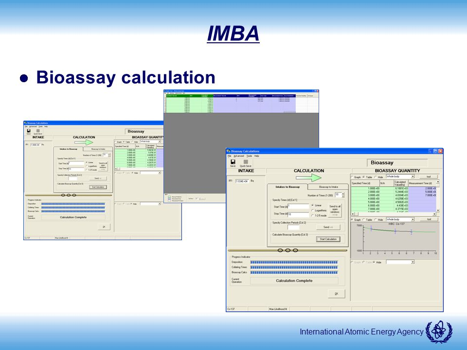 IMBA Bioassay calculation