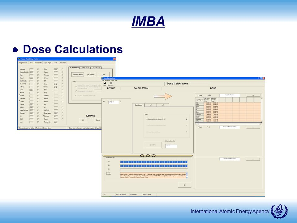 IMBA Dose Calculations