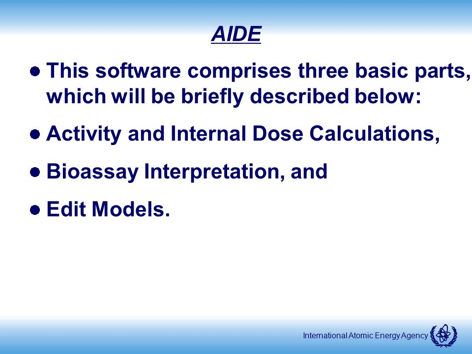 Activity and Internal Dose Calculations, Bioassay Interpretation, and