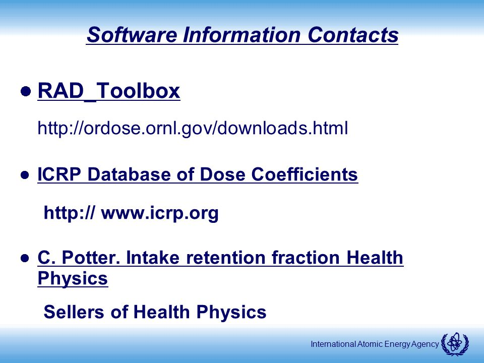 Software Information Contacts