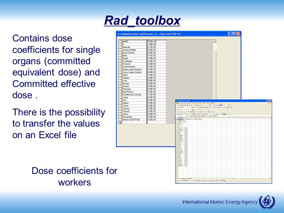 Dose coefficients for workers