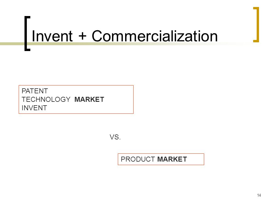 Invent + Commercialization