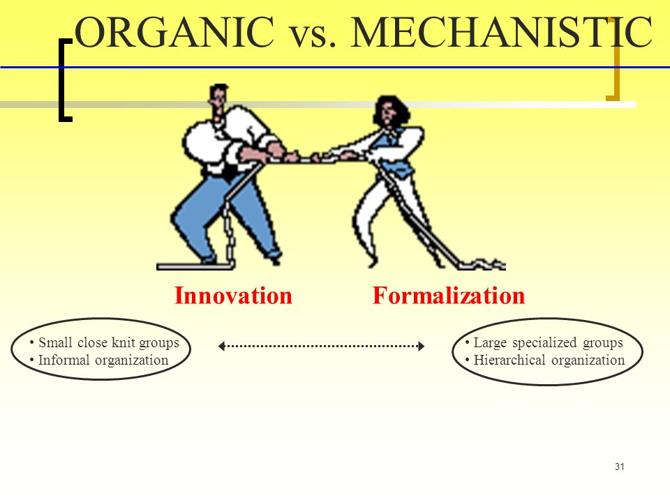 ORGANIC vs. MECHANISTIC