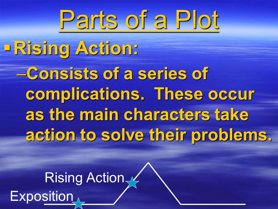 Parts of a Plot Rising Action: