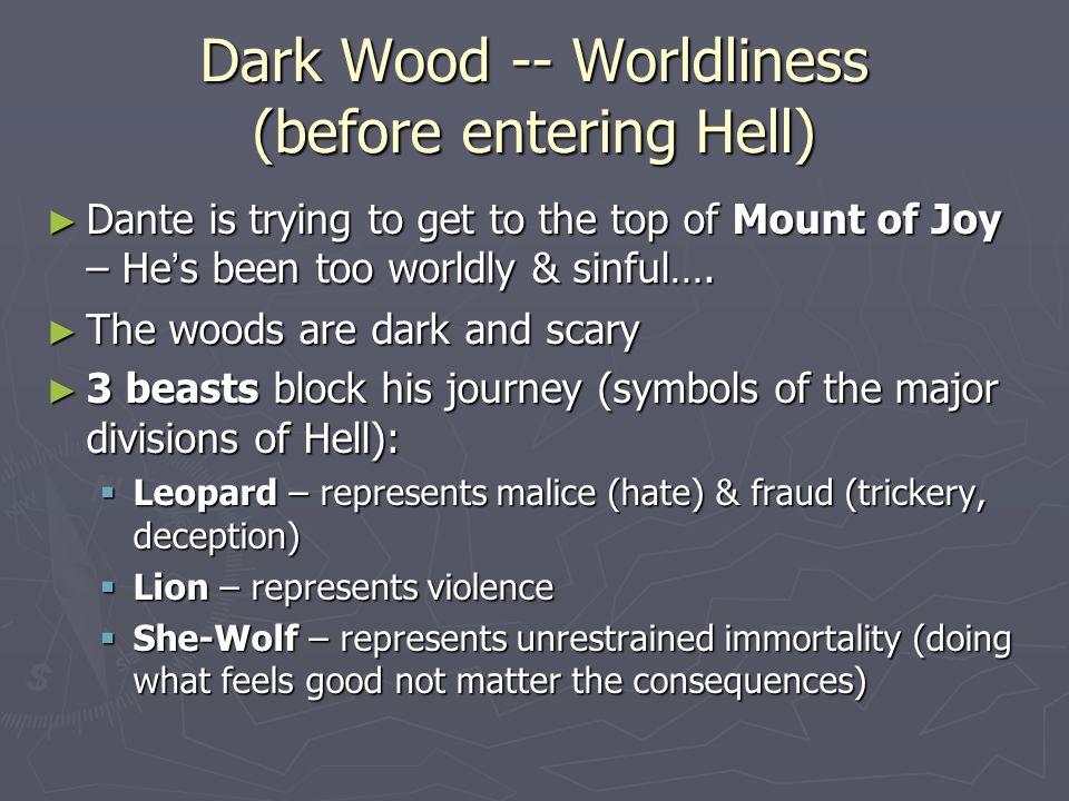Dark Wood -- Worldliness (before entering Hell)