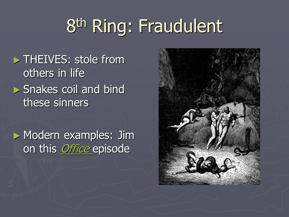 8th Ring: Fraudulent THEIVES: stole from others in life