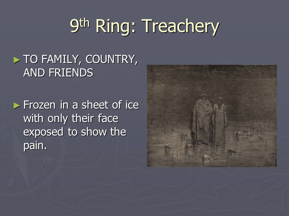 9th Ring: Treachery TO FAMILY, COUNTRY, AND FRIENDS