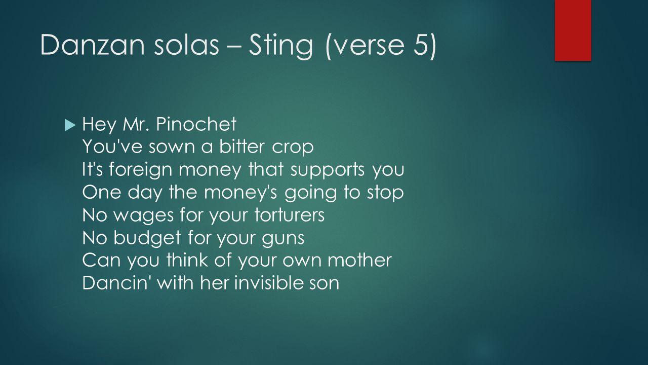 Danzan solas – Sting (verse 5)