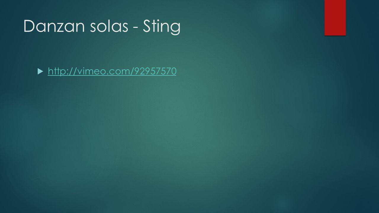 Danzan solas - Sting http://vimeo.com/92957570