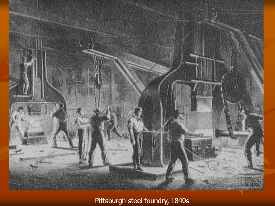 Pittsburgh steel foundry, 1840s