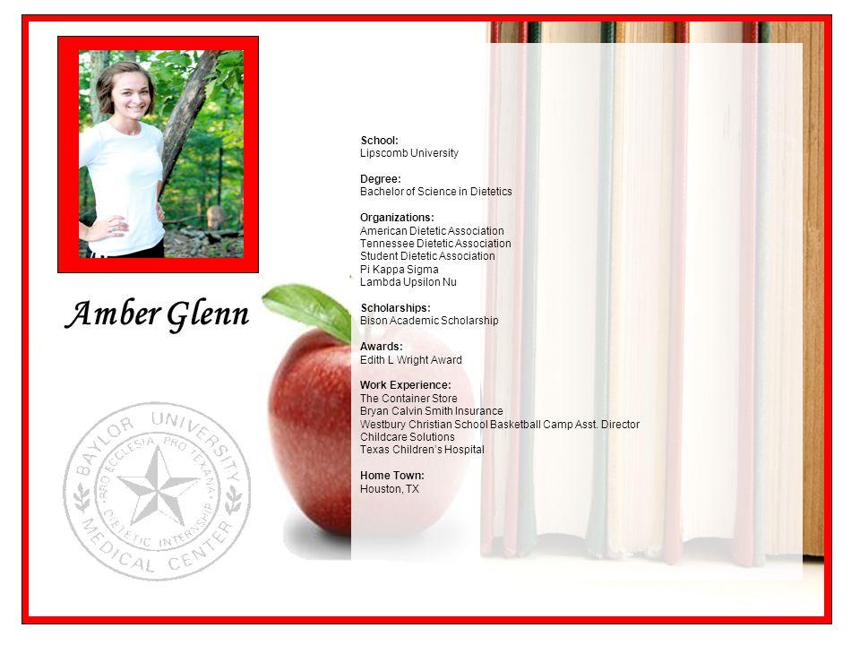 Amber Glenn School: Lipscomb University Degree: