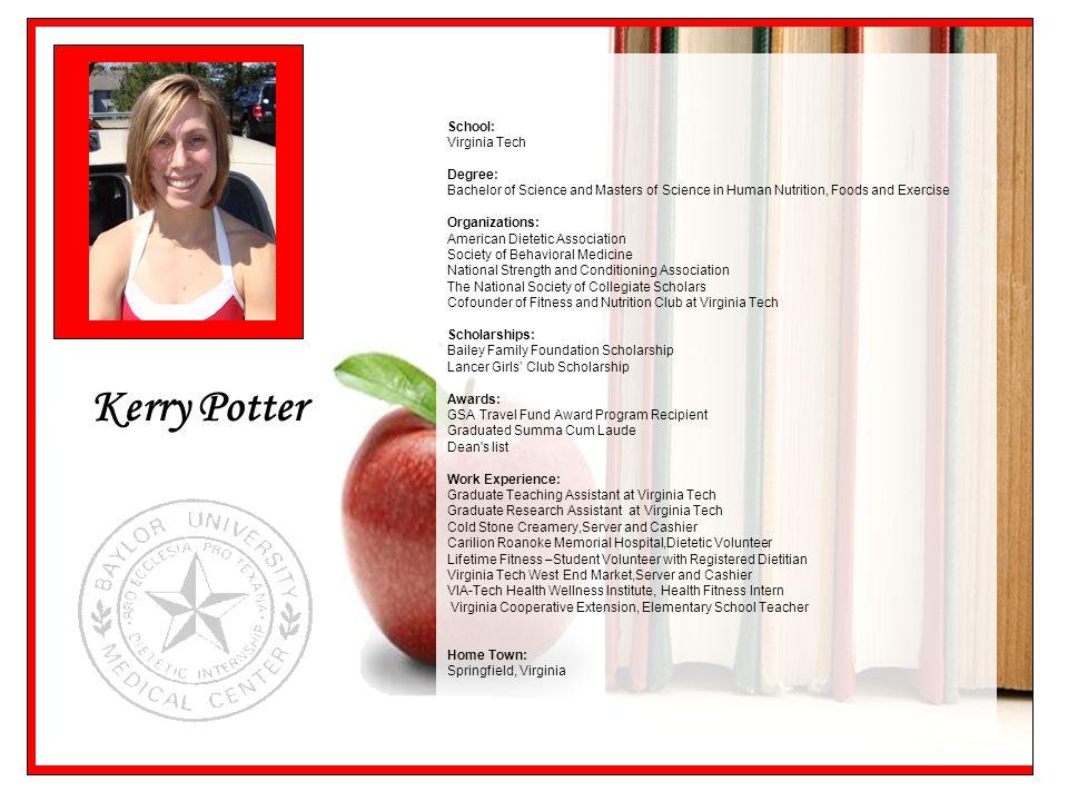 Kerry Potter School: Virginia Tech Degree: