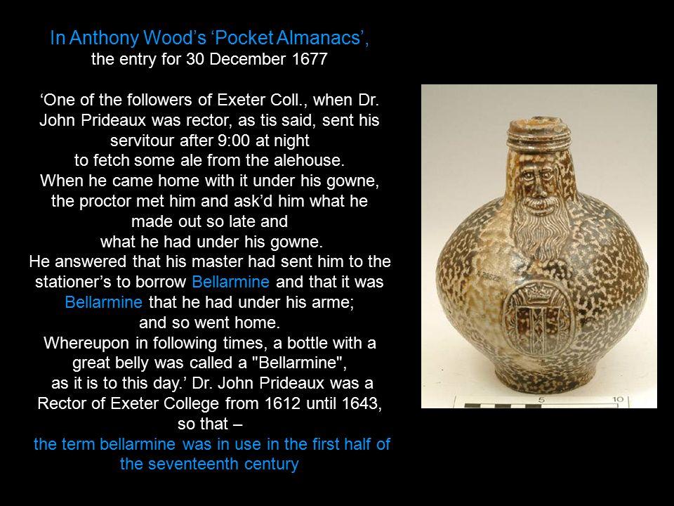 In Anthony Wood's 'Pocket Almanacs',