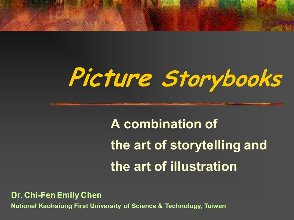 A combination of the art of storytelling and the art of illustration