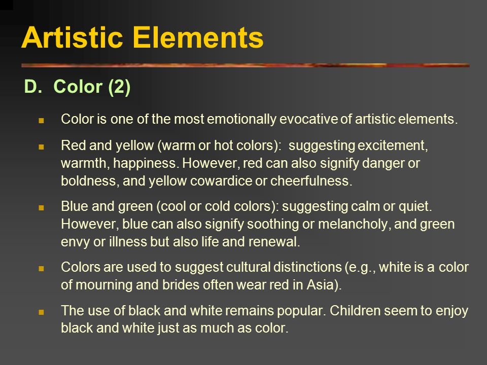 Artistic Elements D. Color (2)