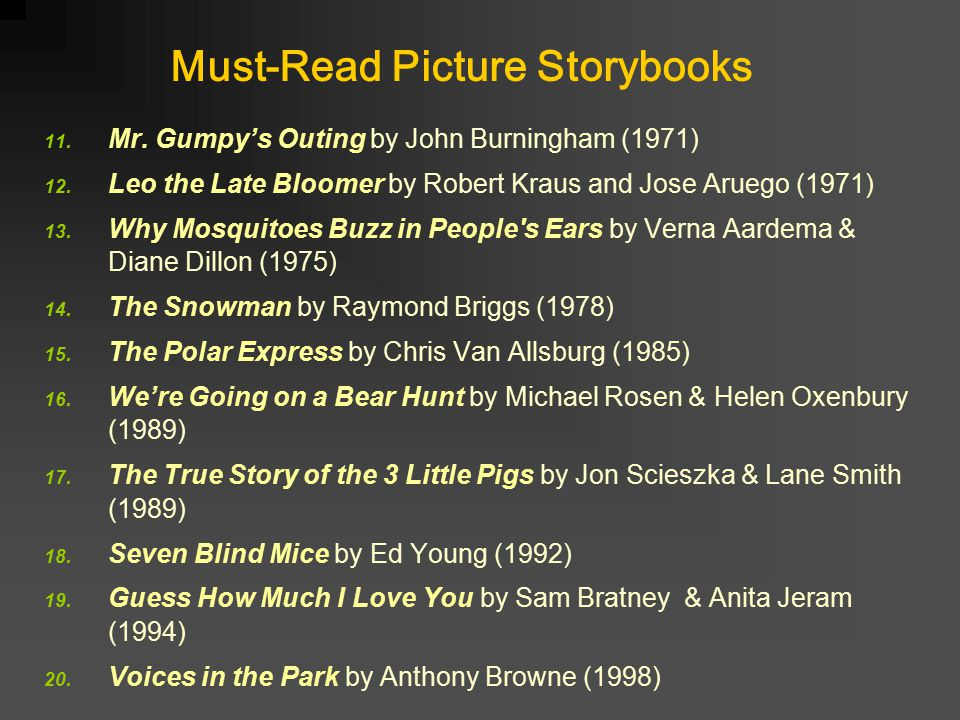 Must-Read Picture Storybooks