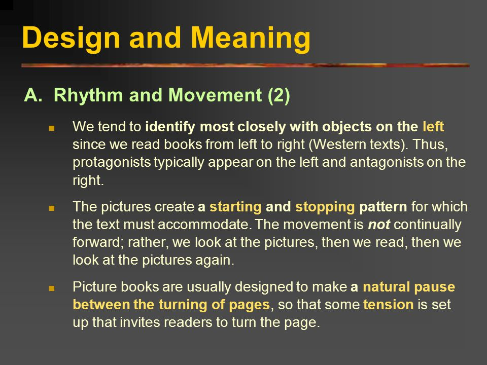 Design and Meaning A. Rhythm and Movement (2)