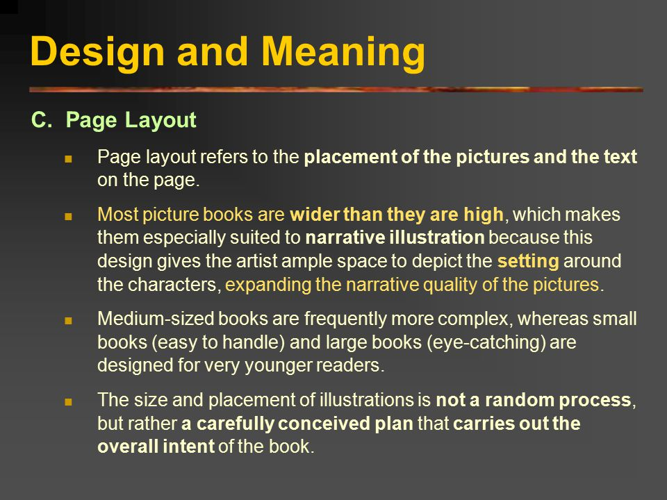 Design and Meaning C. Page Layout