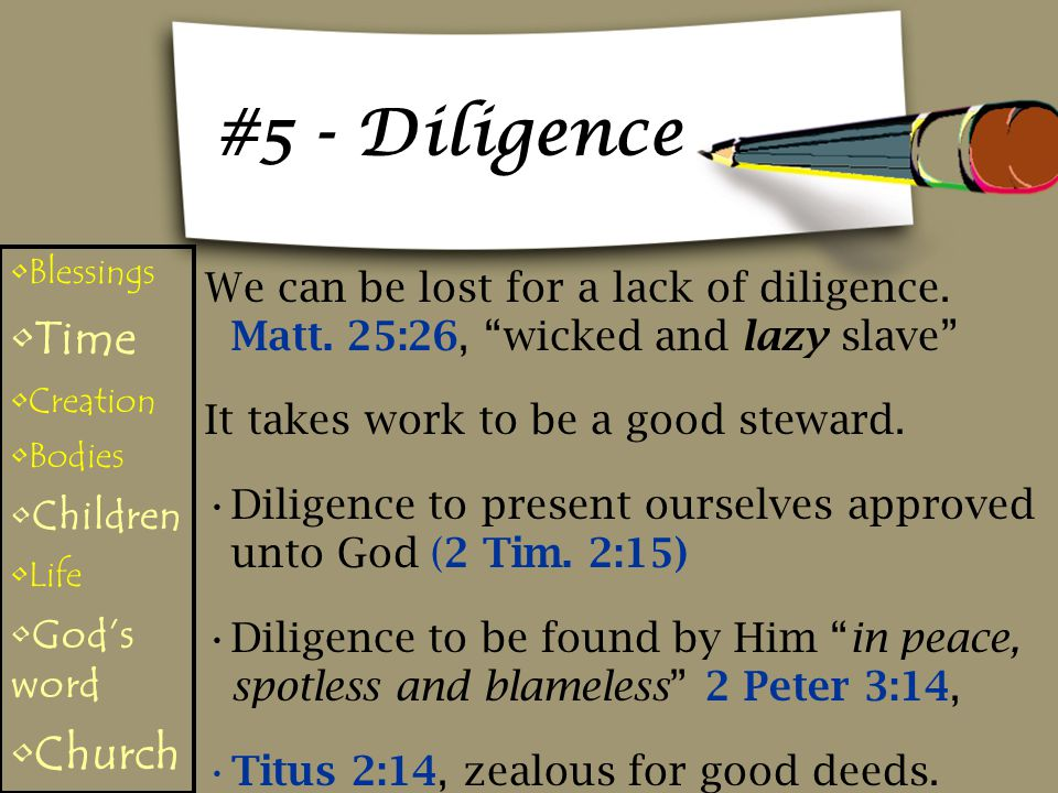 #5 - Diligence Time Church